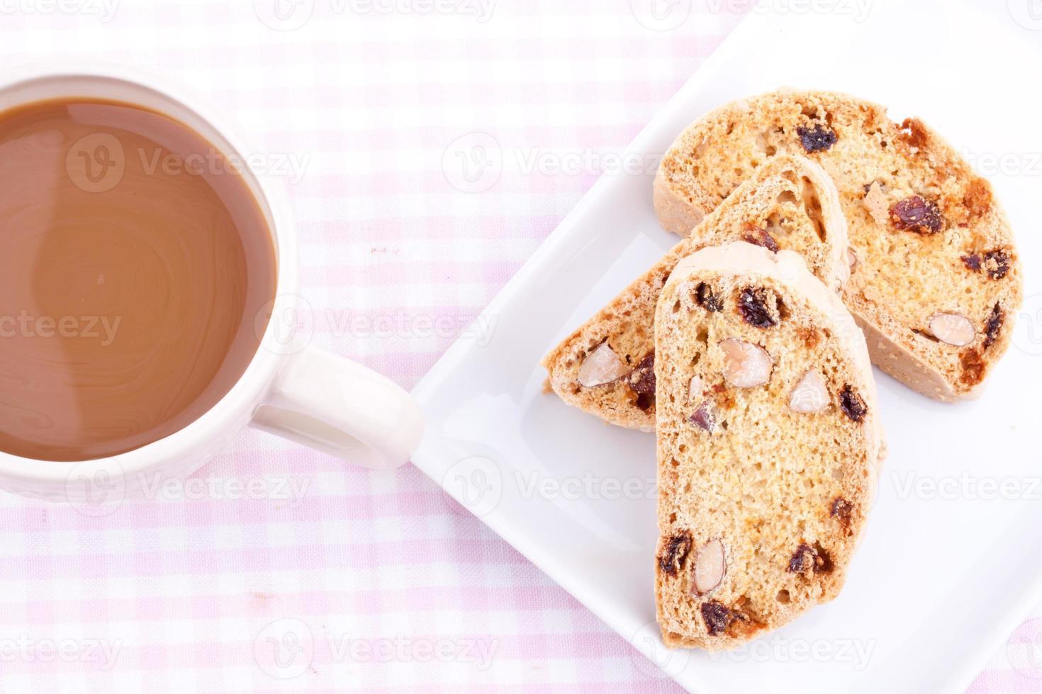 biscotti con café foto