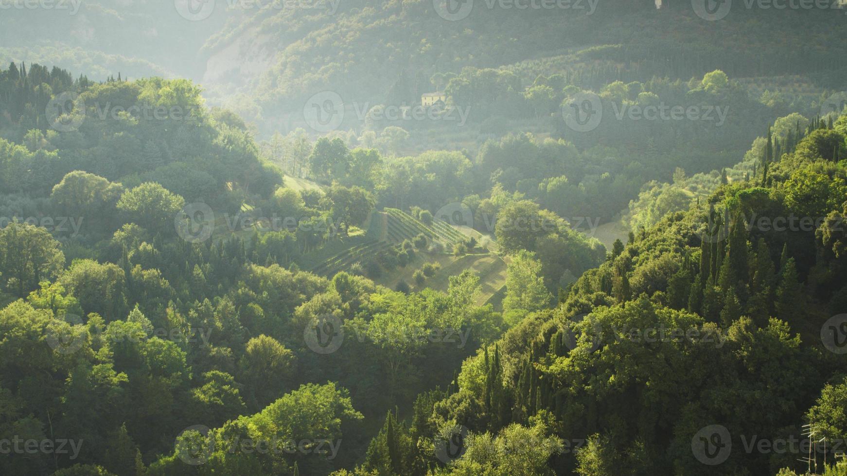 paisagem exuberante e bela da toscana em florença, itália foto