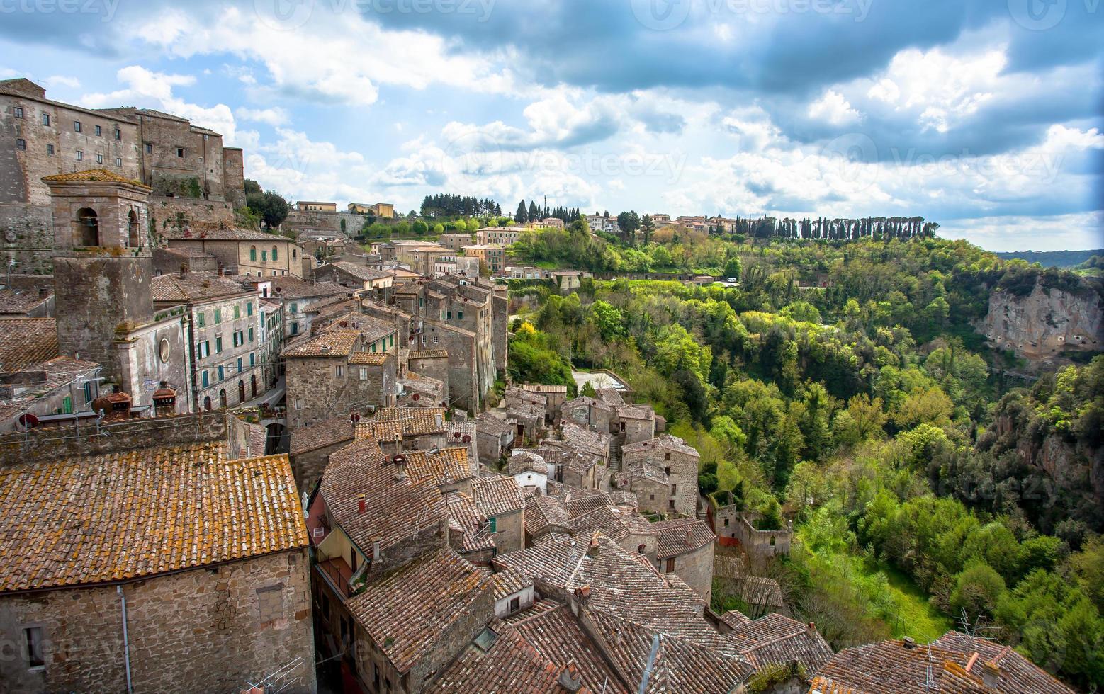 Sorano Stadt Toskana Italien foto