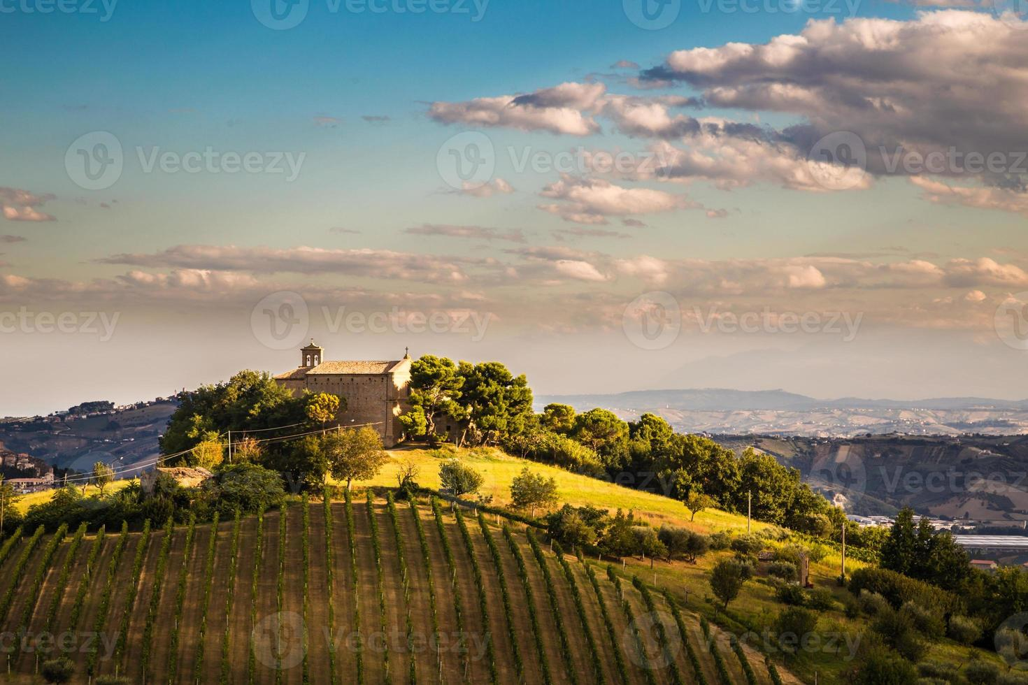 evening on the hills of Italy photo