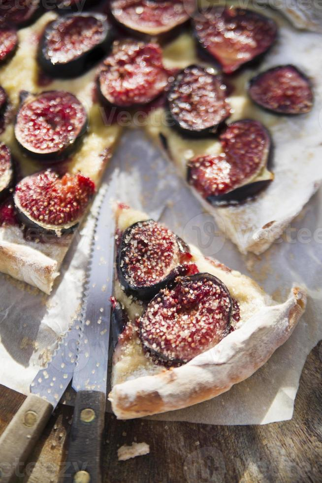 Focaccia with figs photo