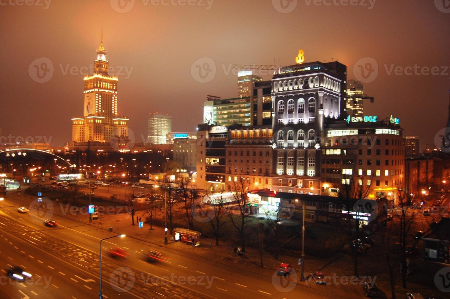 centro da cidade de Varsóvia foto