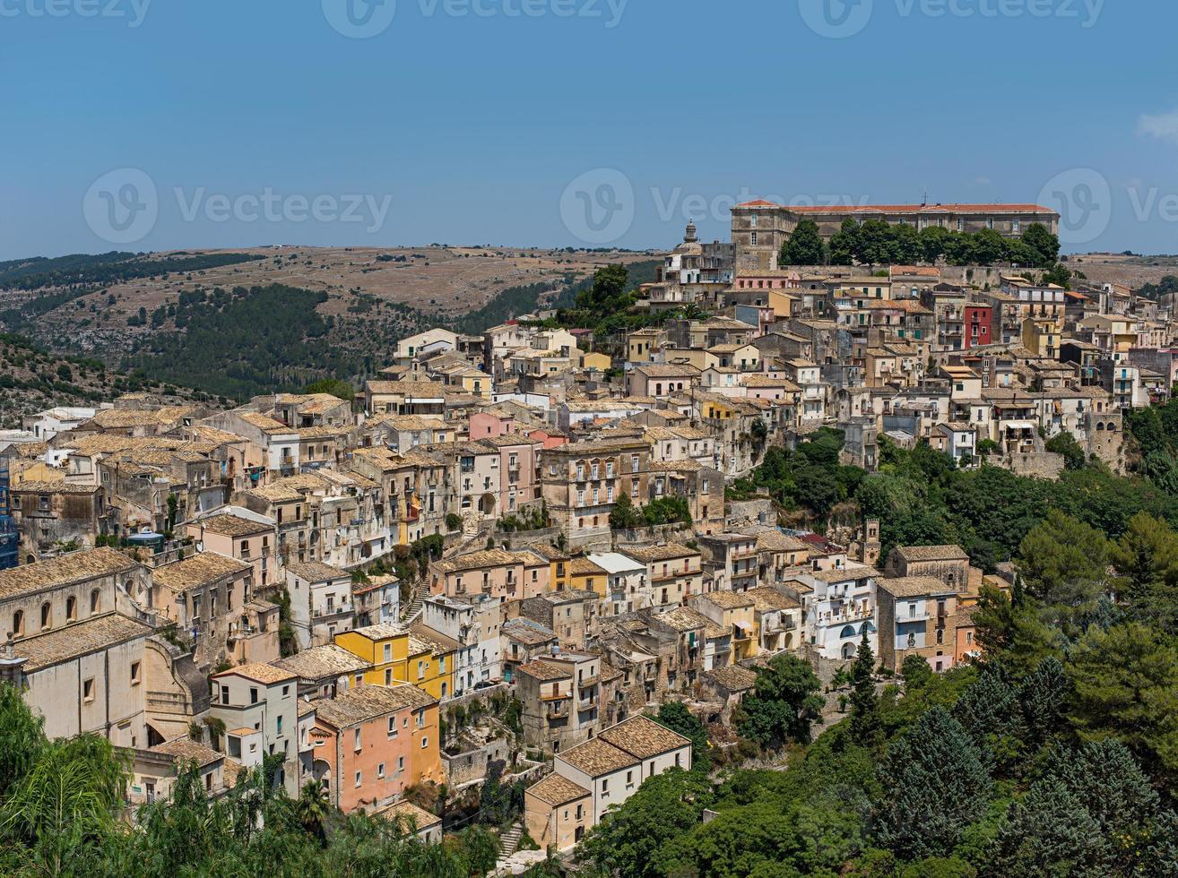 paisaje urbano de ragusa ibla. sicilia, italia. foto