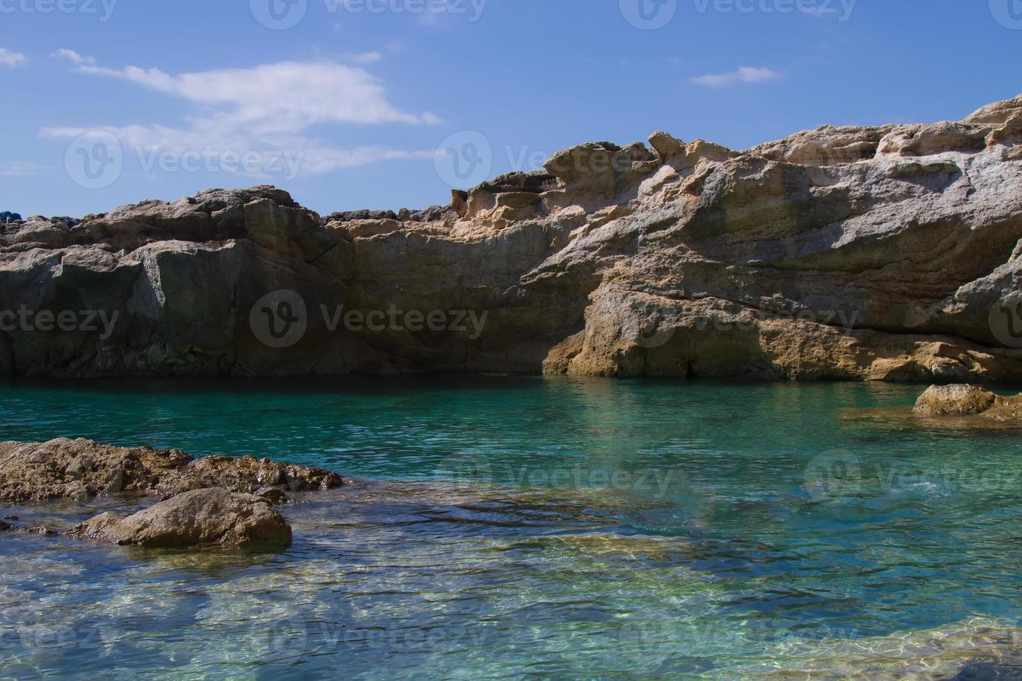 Beach in Sicily - Reserve of the plemmirio in Syracuse photo