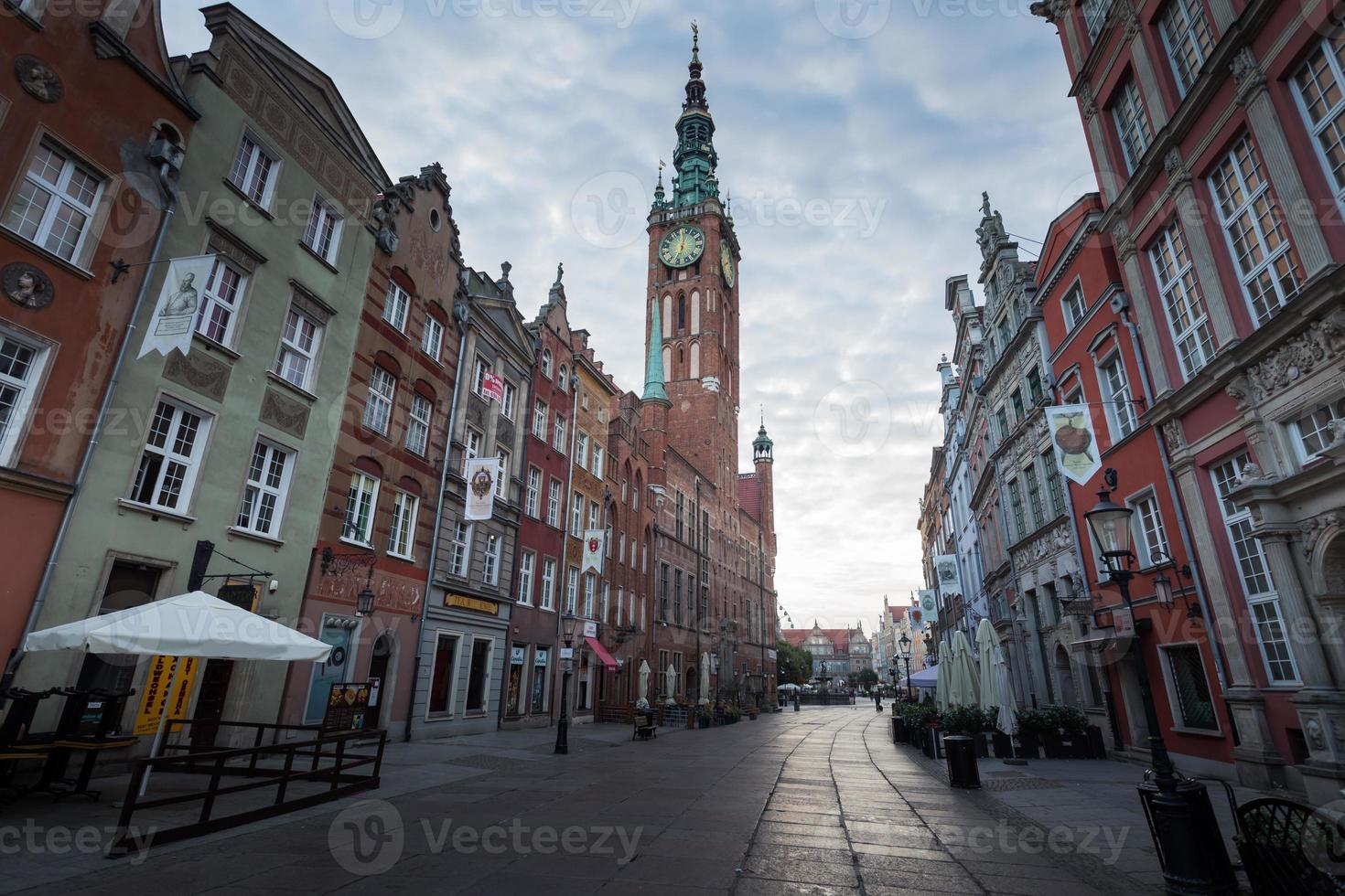 Cityscape of Gdansk in Poland photo