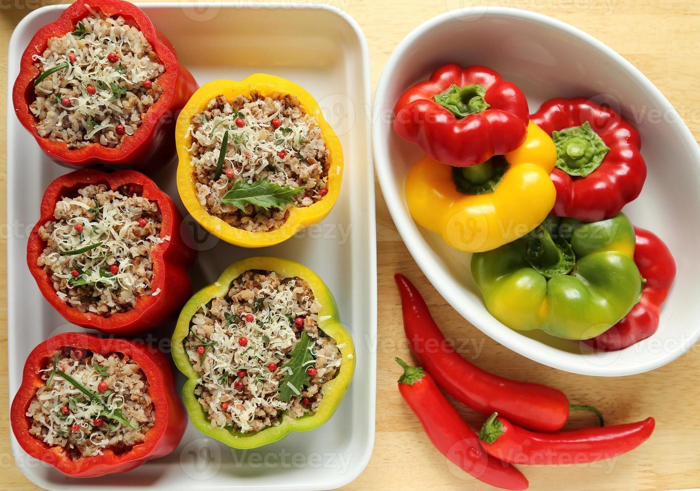 Stuffed peppers photo