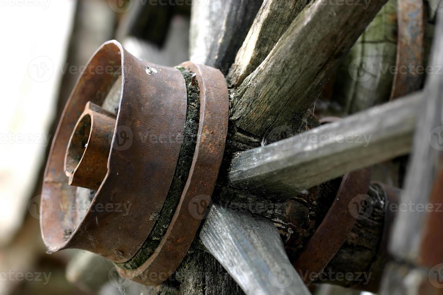 rueda de madera foto