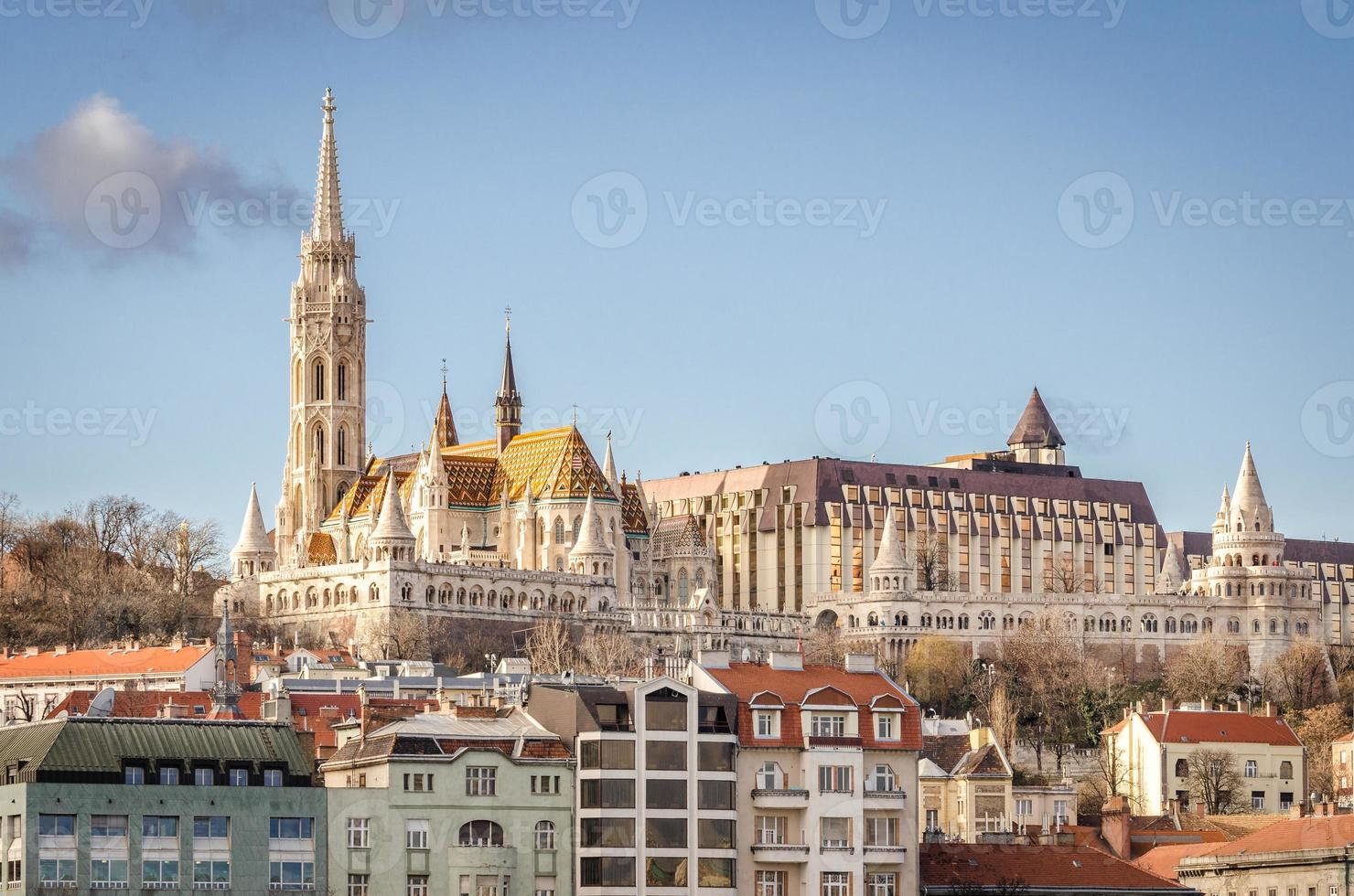 Budapest, view on Danube and Buda with Matthias Church photo