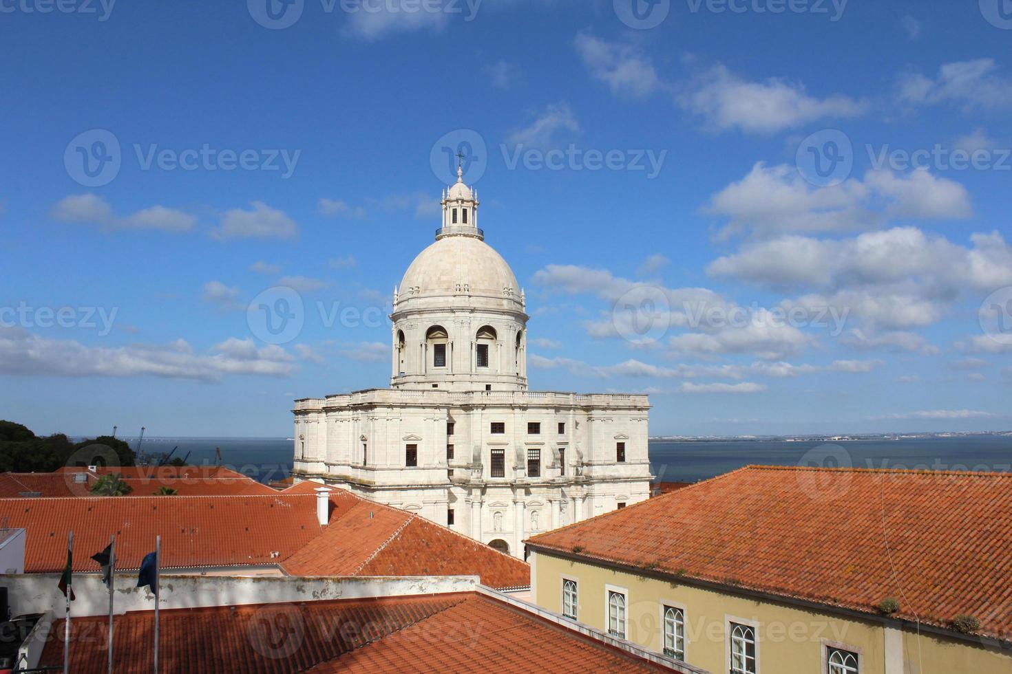 cúpula, iglesia, lisboa, portugal foto