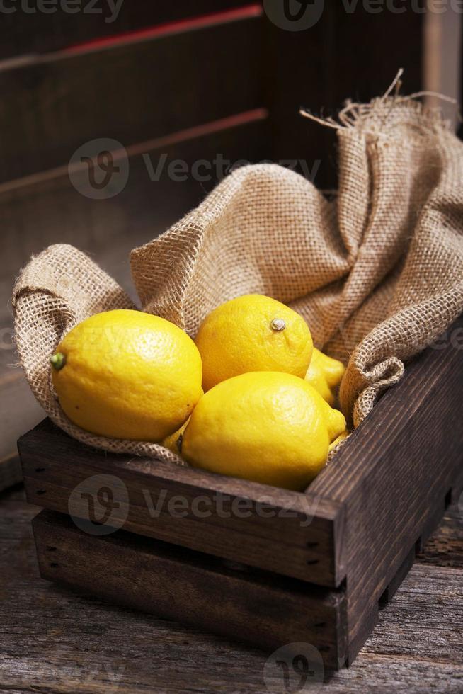 Fresh Lemons in Crate photo