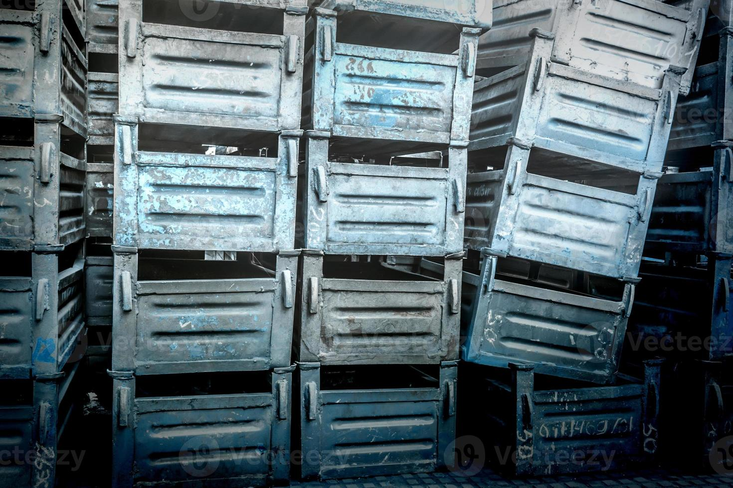 Old metal boxes photo