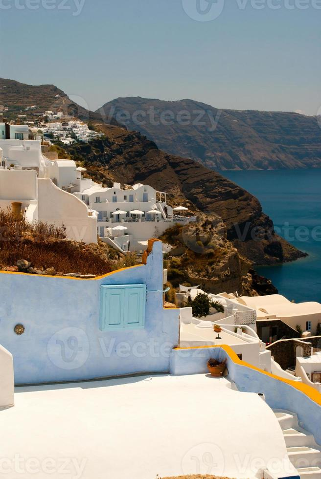 arquitectura en la isla de santorini, grecia foto
