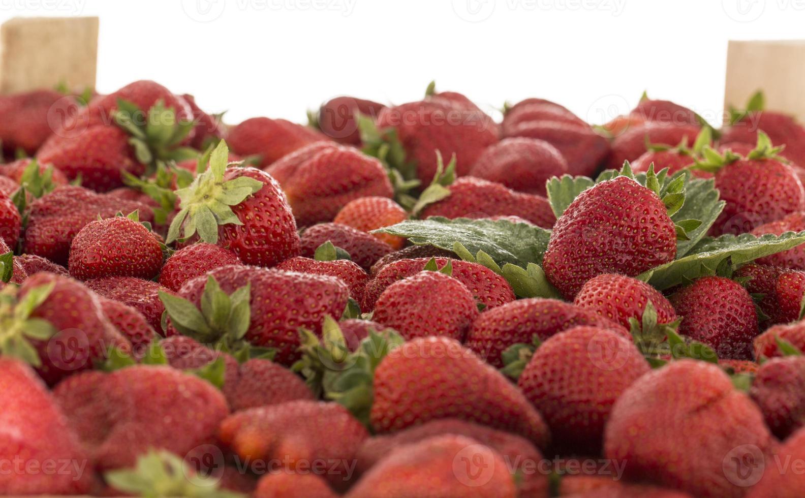 caja de fresas foto