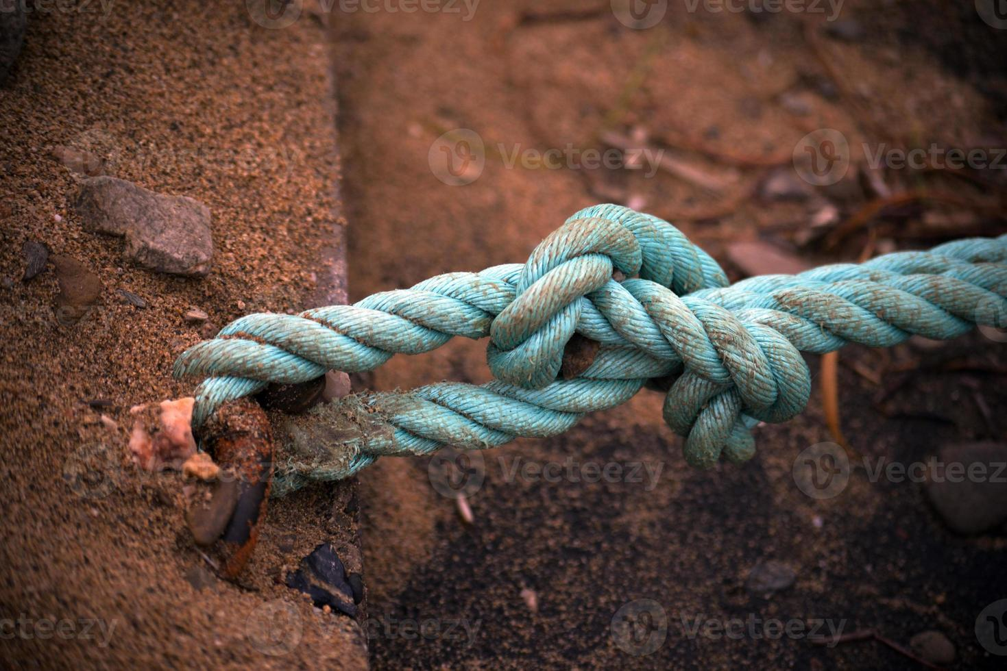 Blue rope photo