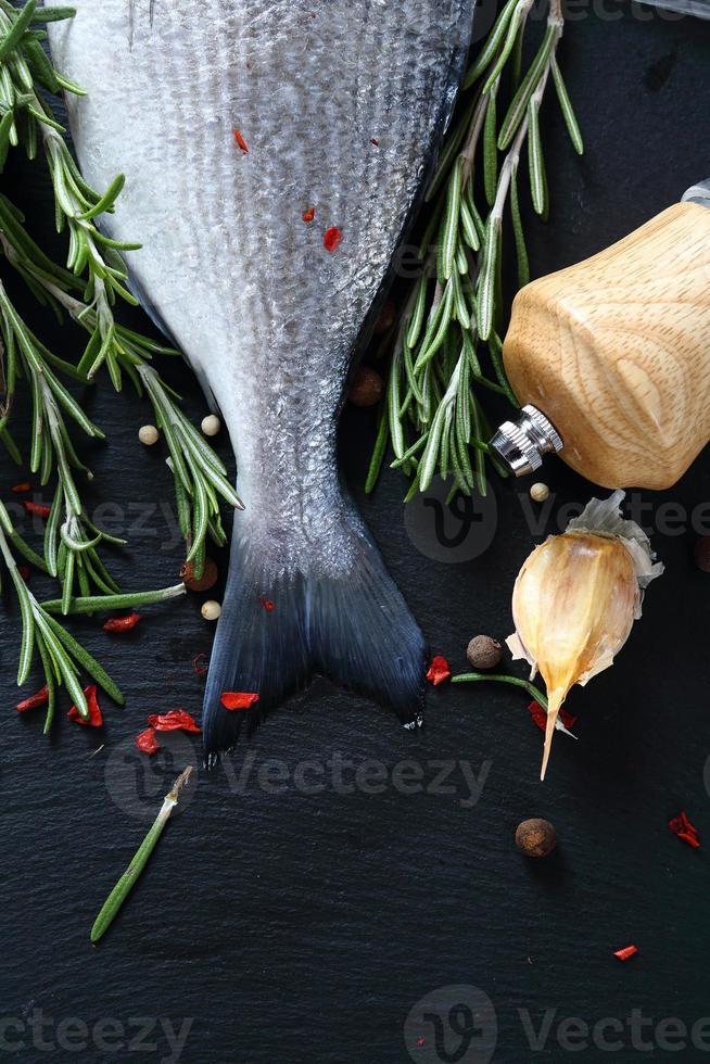 Dorado with paprika and rosemary photo