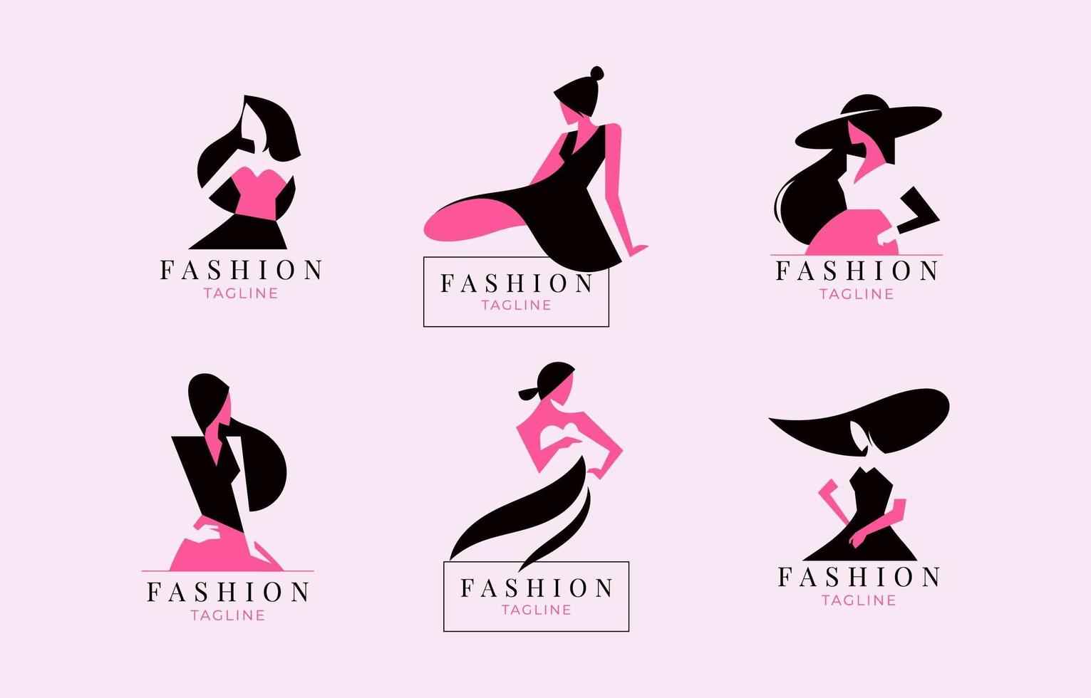 Fashion and Beauty Logo Collection vector