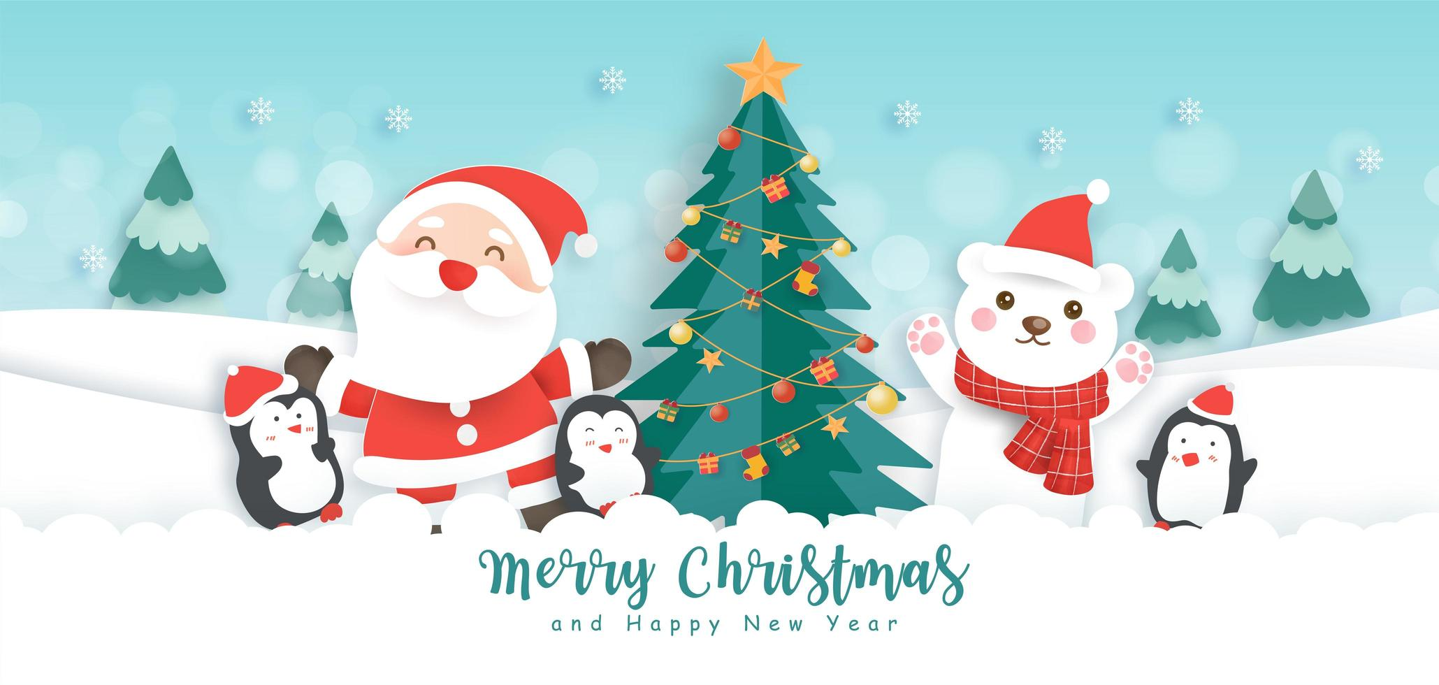 christmas and happy new year banner download free vectors clipart graphics vector art christmas and happy new year banner