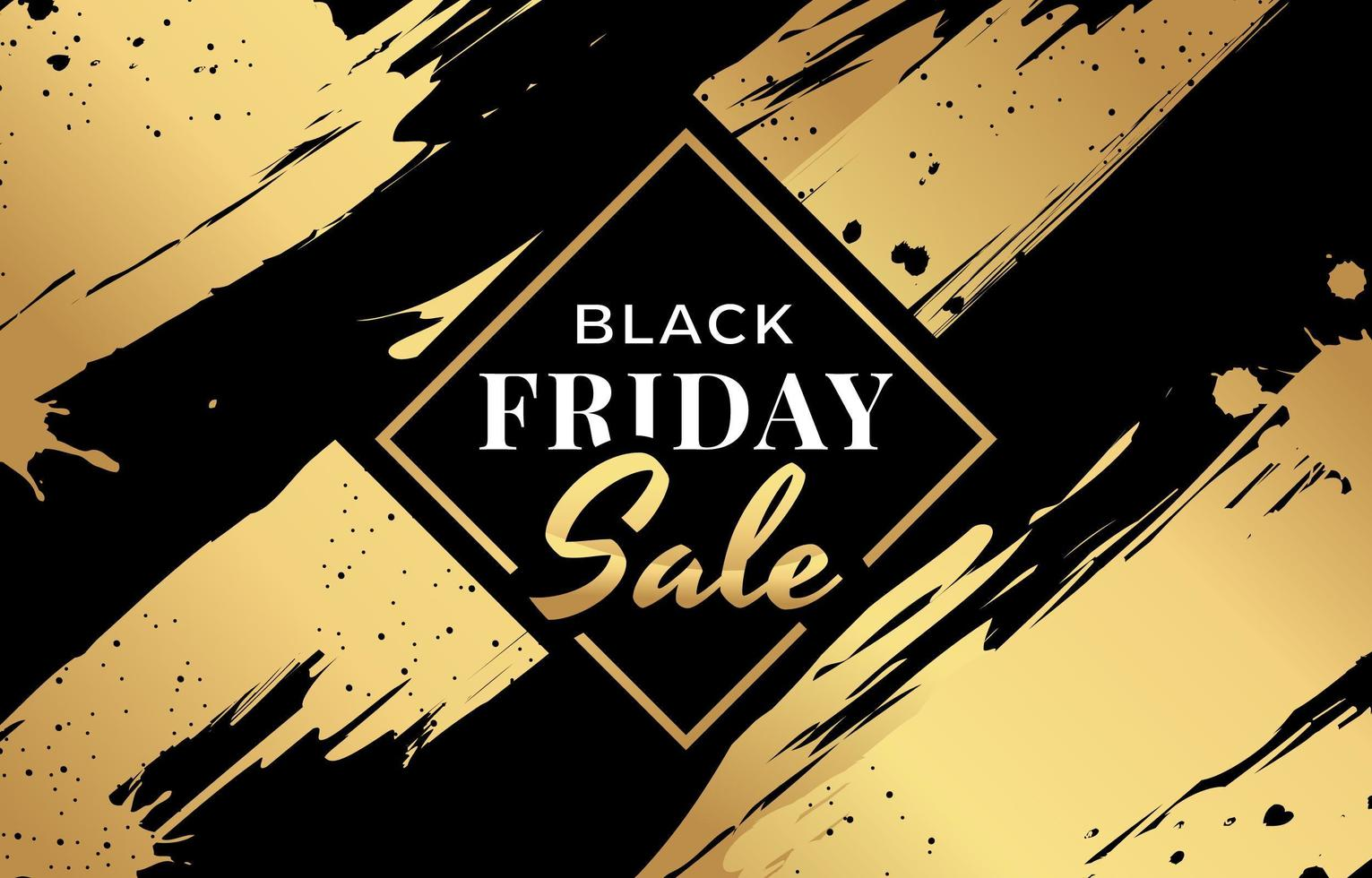 Black and Gold Aesthetic for Black Friday Sale vector