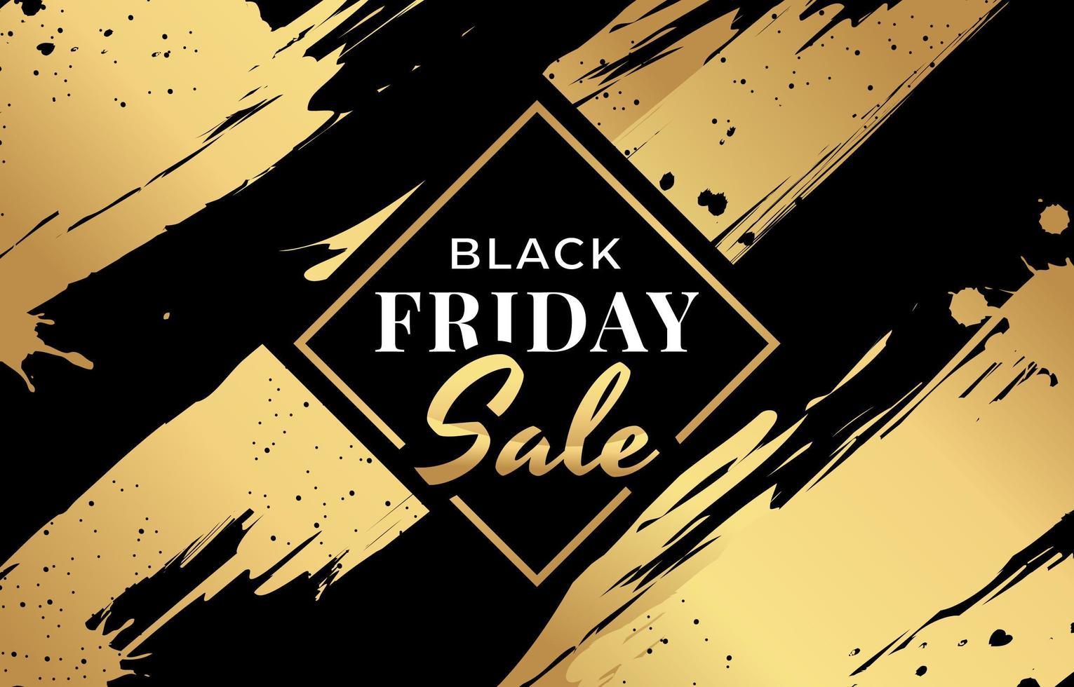 estética preta e dourada para liquidação na sexta-feira negra vetor