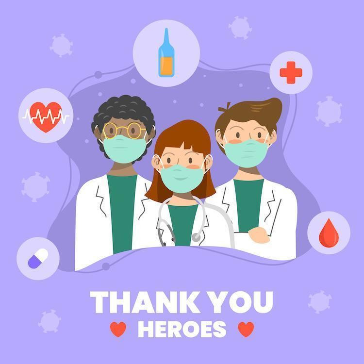 Thank You for Healthcare Officers vector