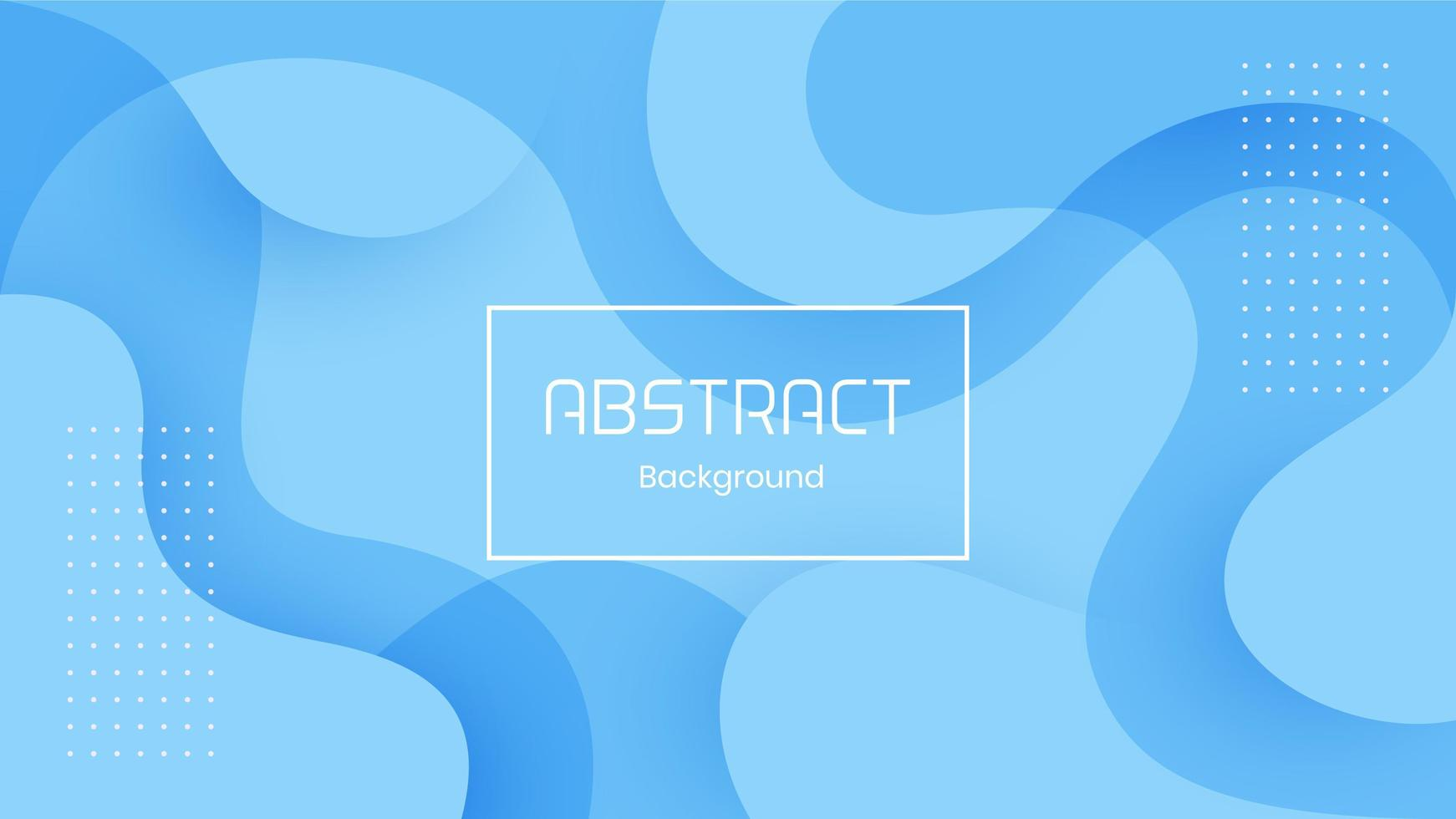 Blue 3D Dynamic Abstract Background vector