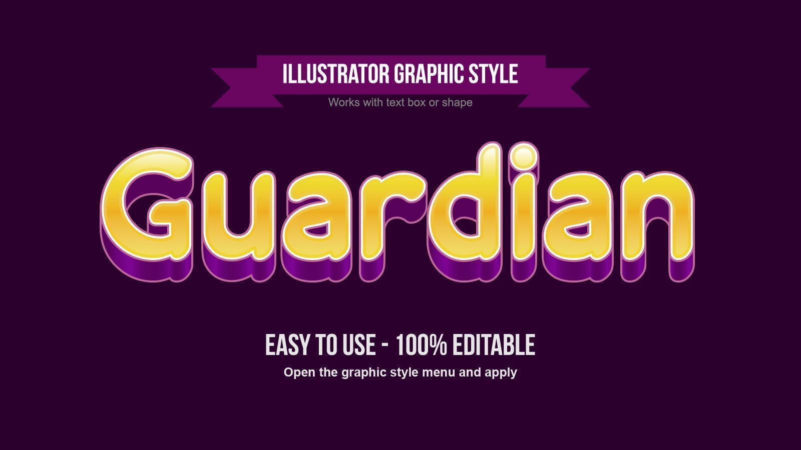 efecto de texto de dibujos animados 3d dorado y morado vector