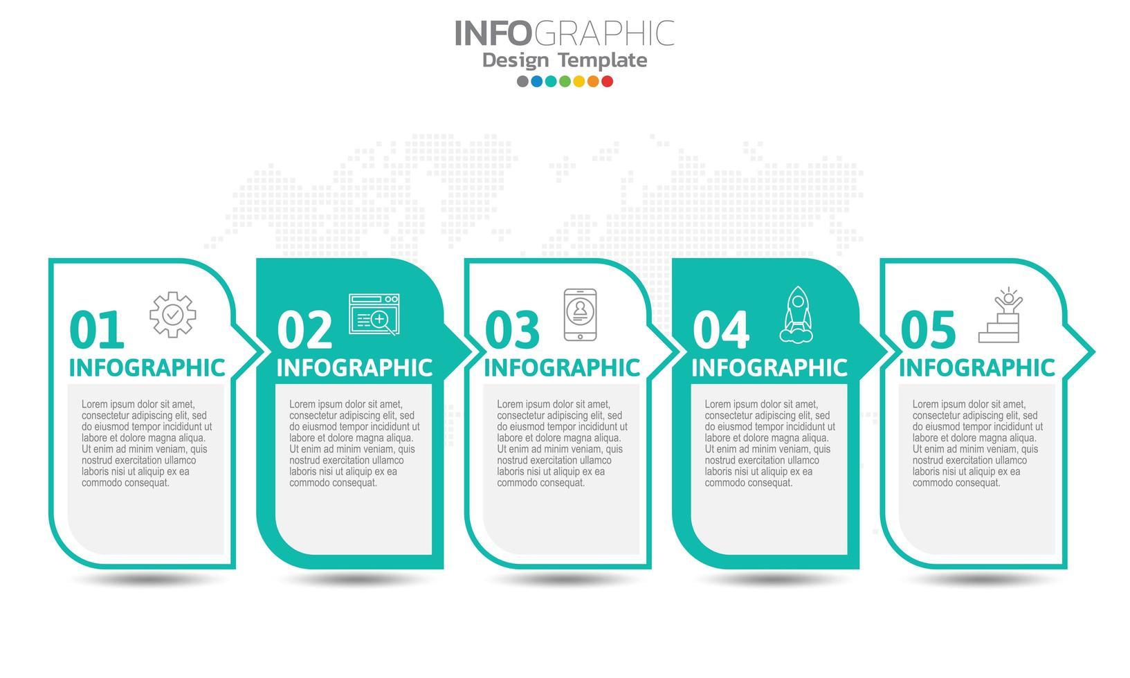 infografías para el concepto de negocio con iconos vector
