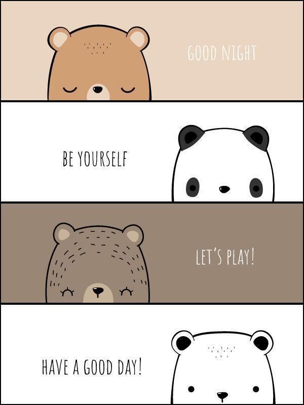 Cute Bear Family Cartoon Doodle Banners vector