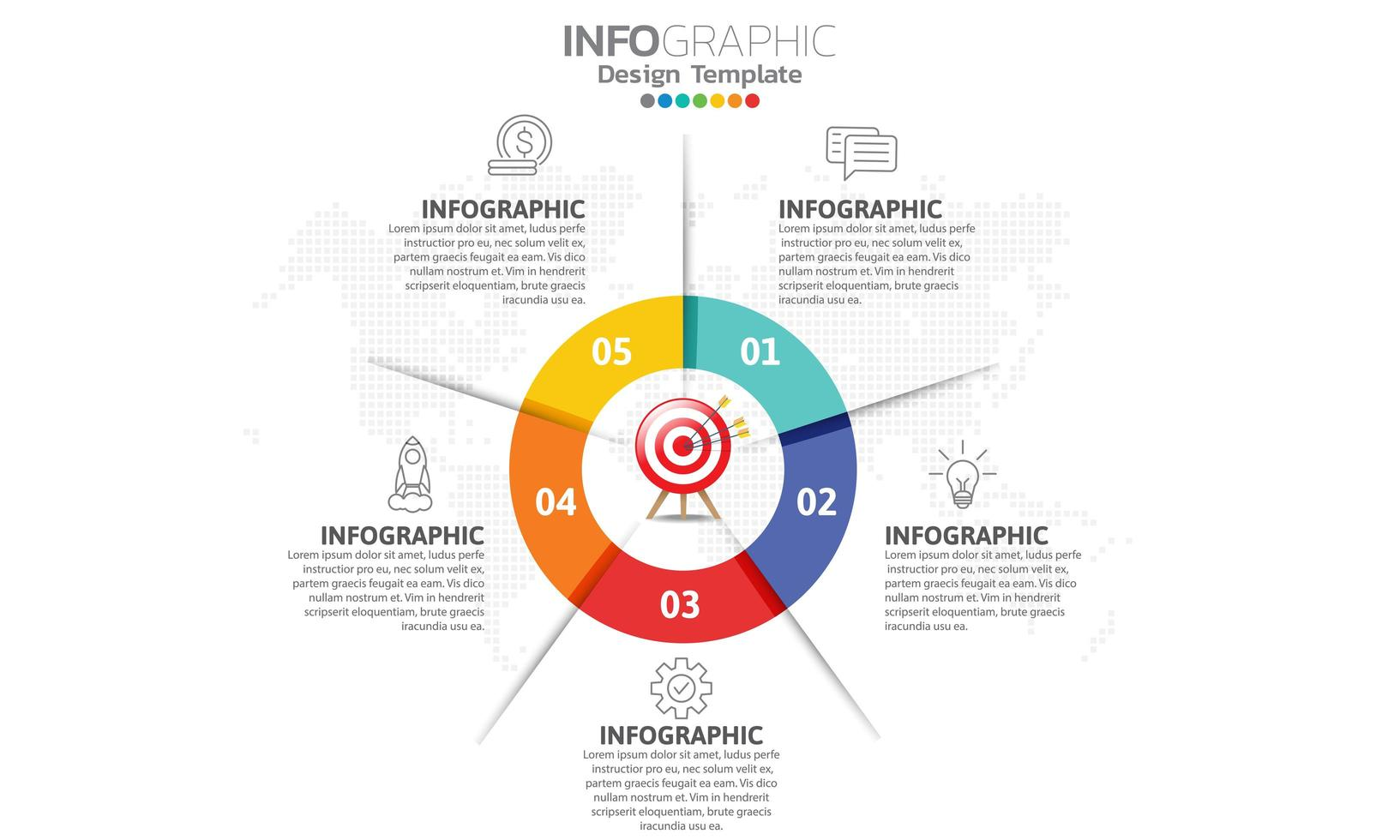 Infographics for business concept with icons vector