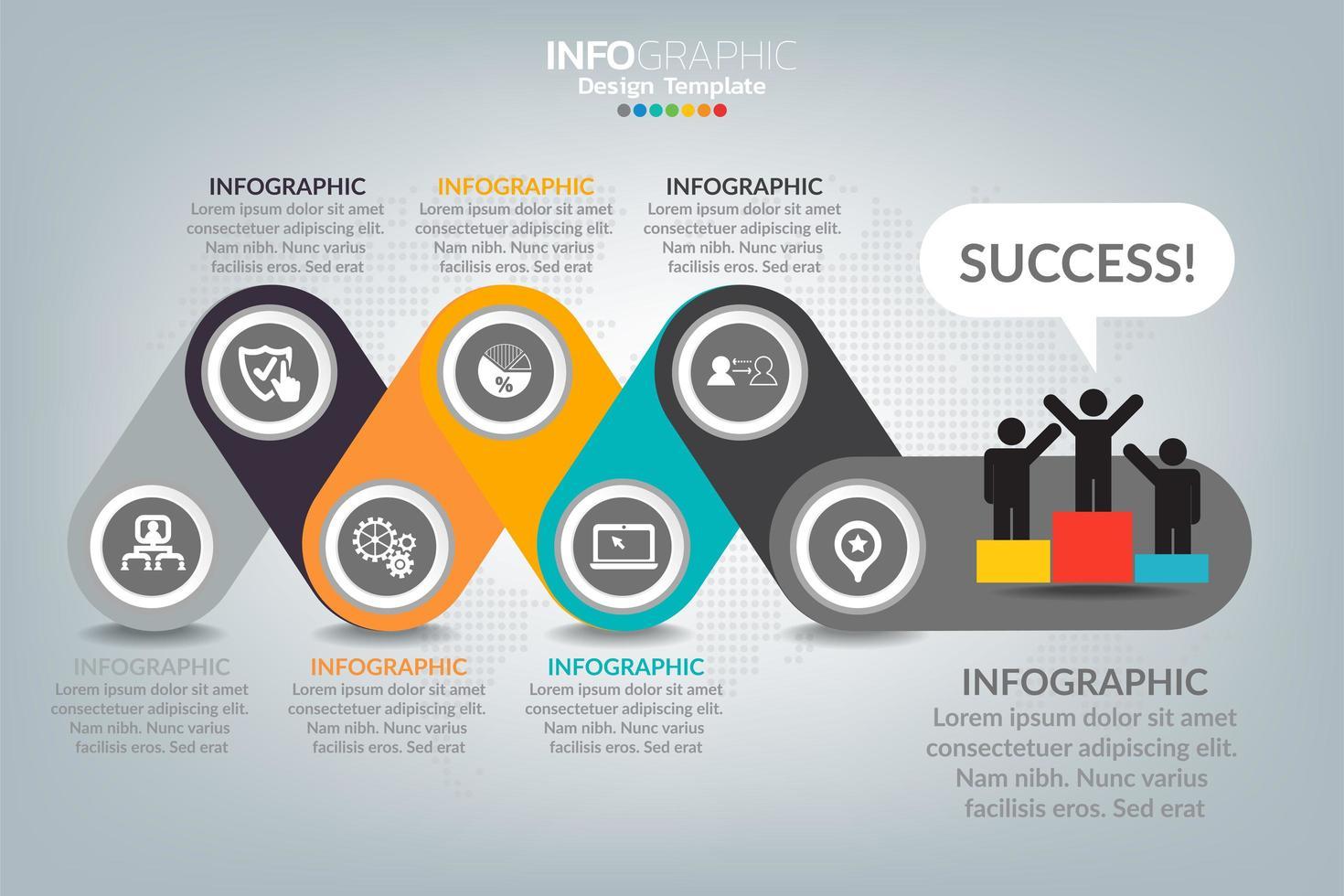 cómo tener éxito en la infografía empresarial vector
