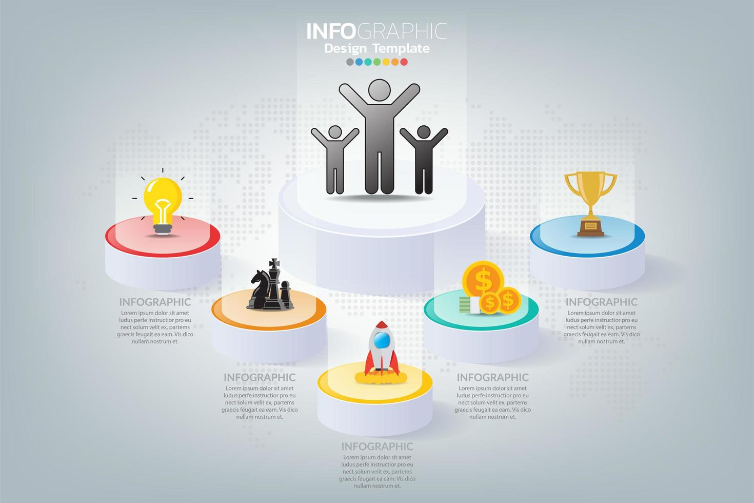How to success business infographic vector