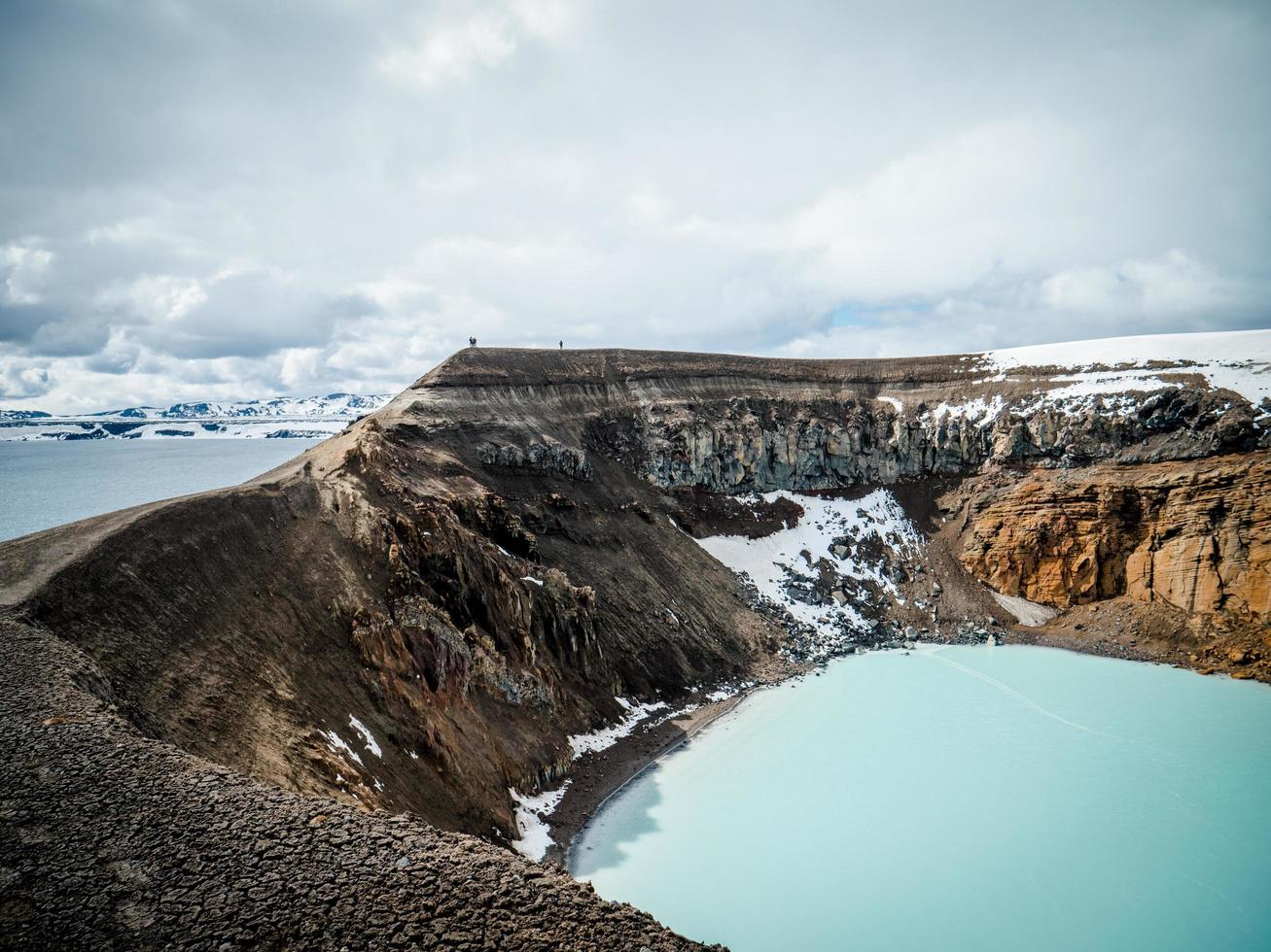 Crater lake in Iceland photo