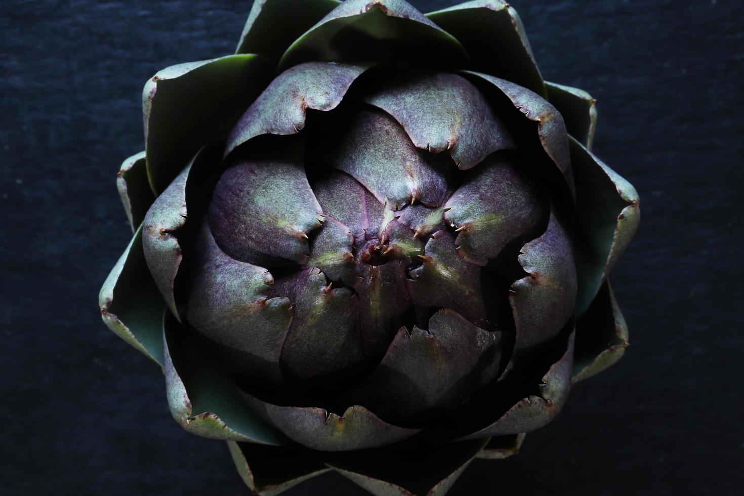 vista superior de una alcachofa foto