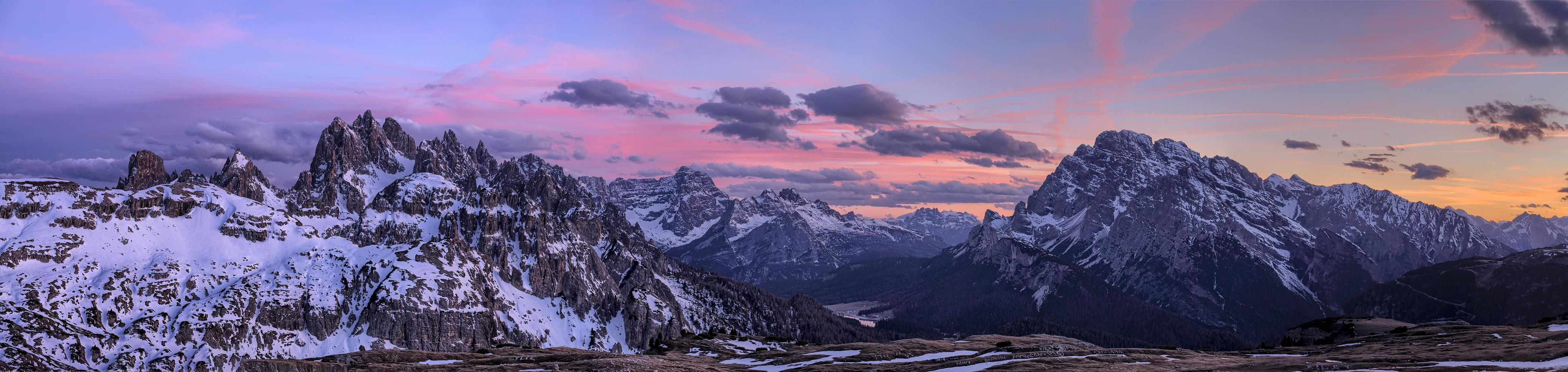 Sunrise in the Dolomites photo