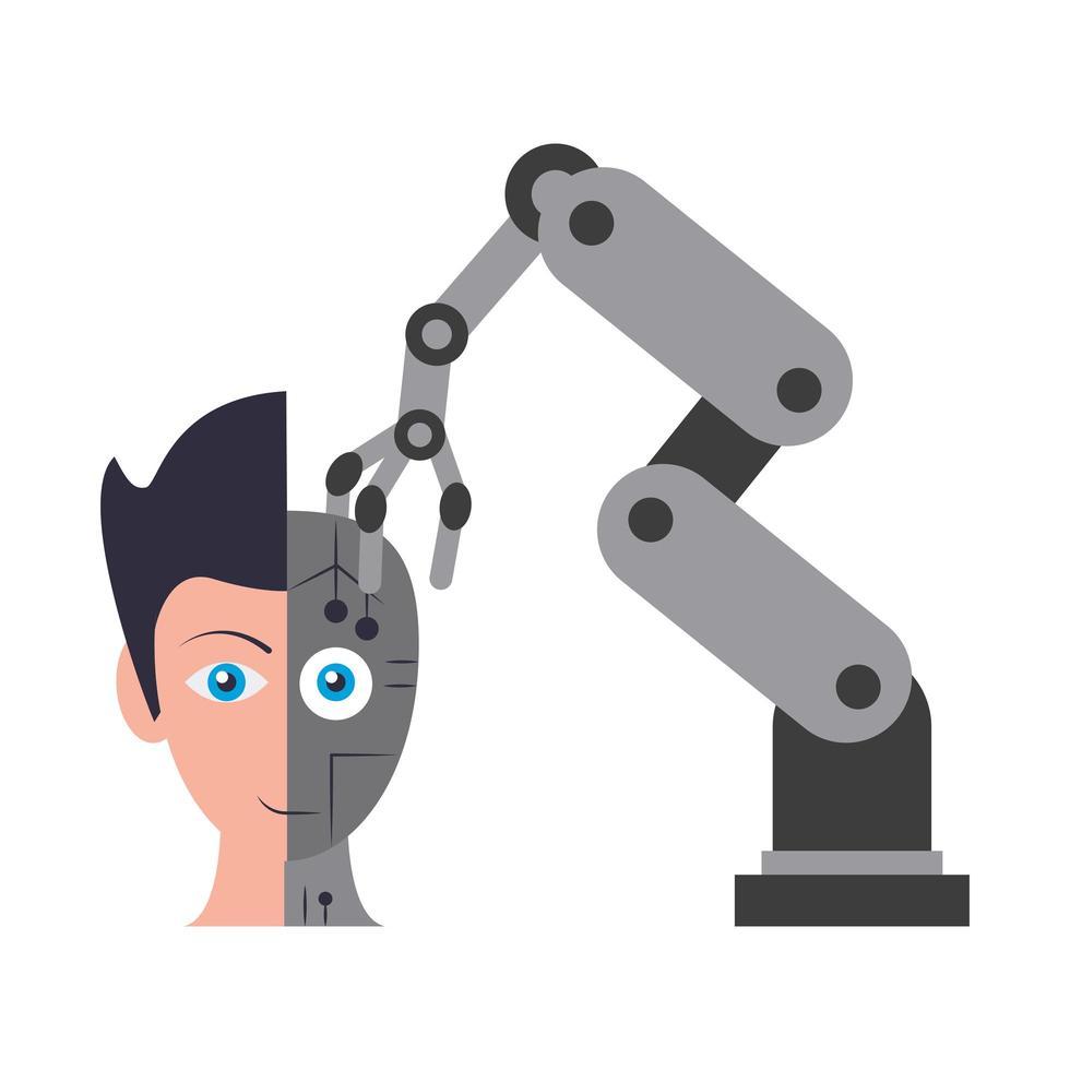 concepto de inteligencia artificial vector