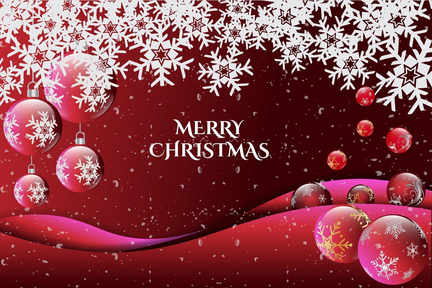 Snowflake Christmas ornament background design vector