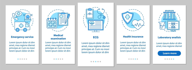 aplicación móvil de incorporación de medicina y atención médica vector