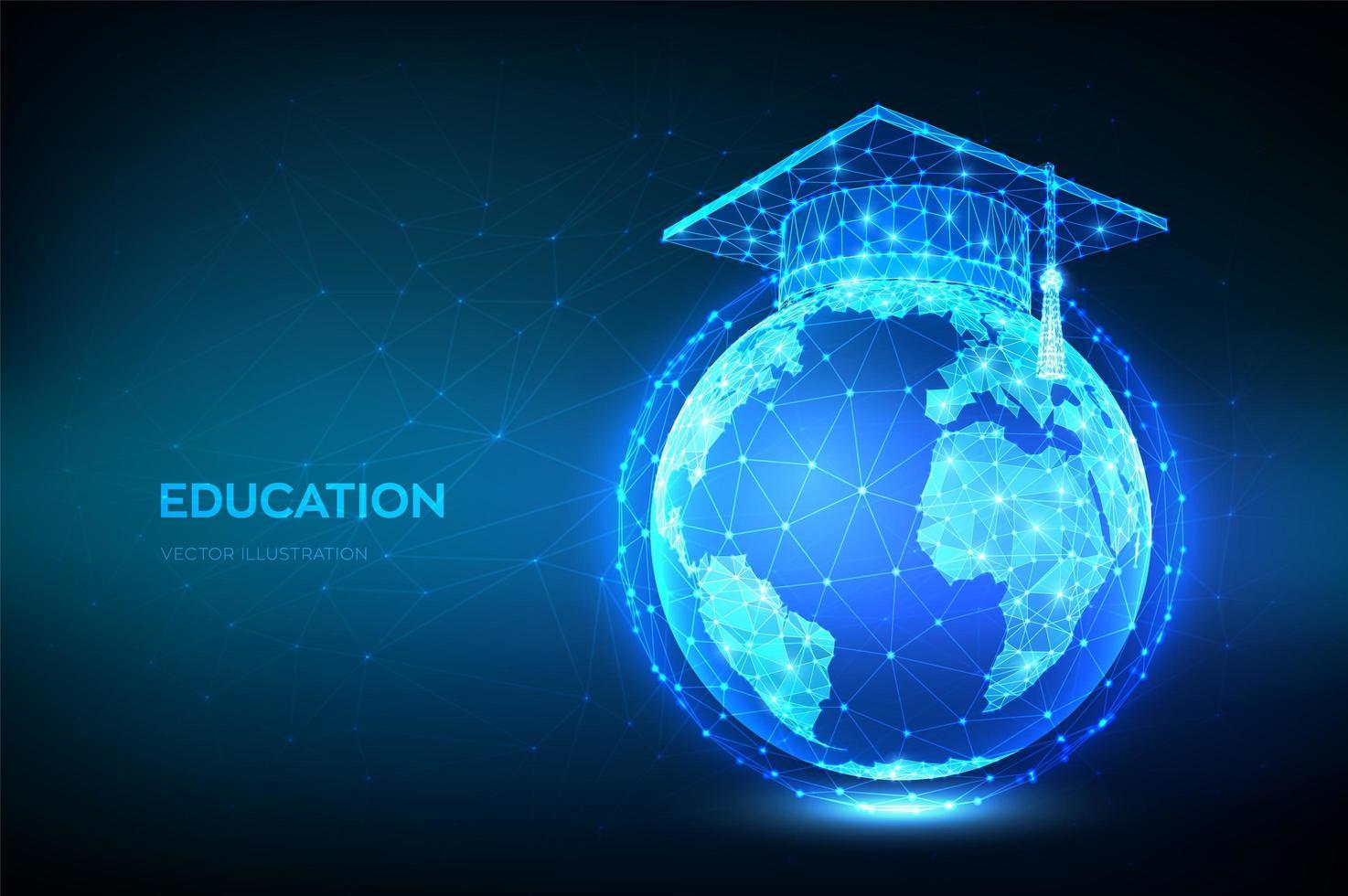 banner de educación en línea de e-learning vector