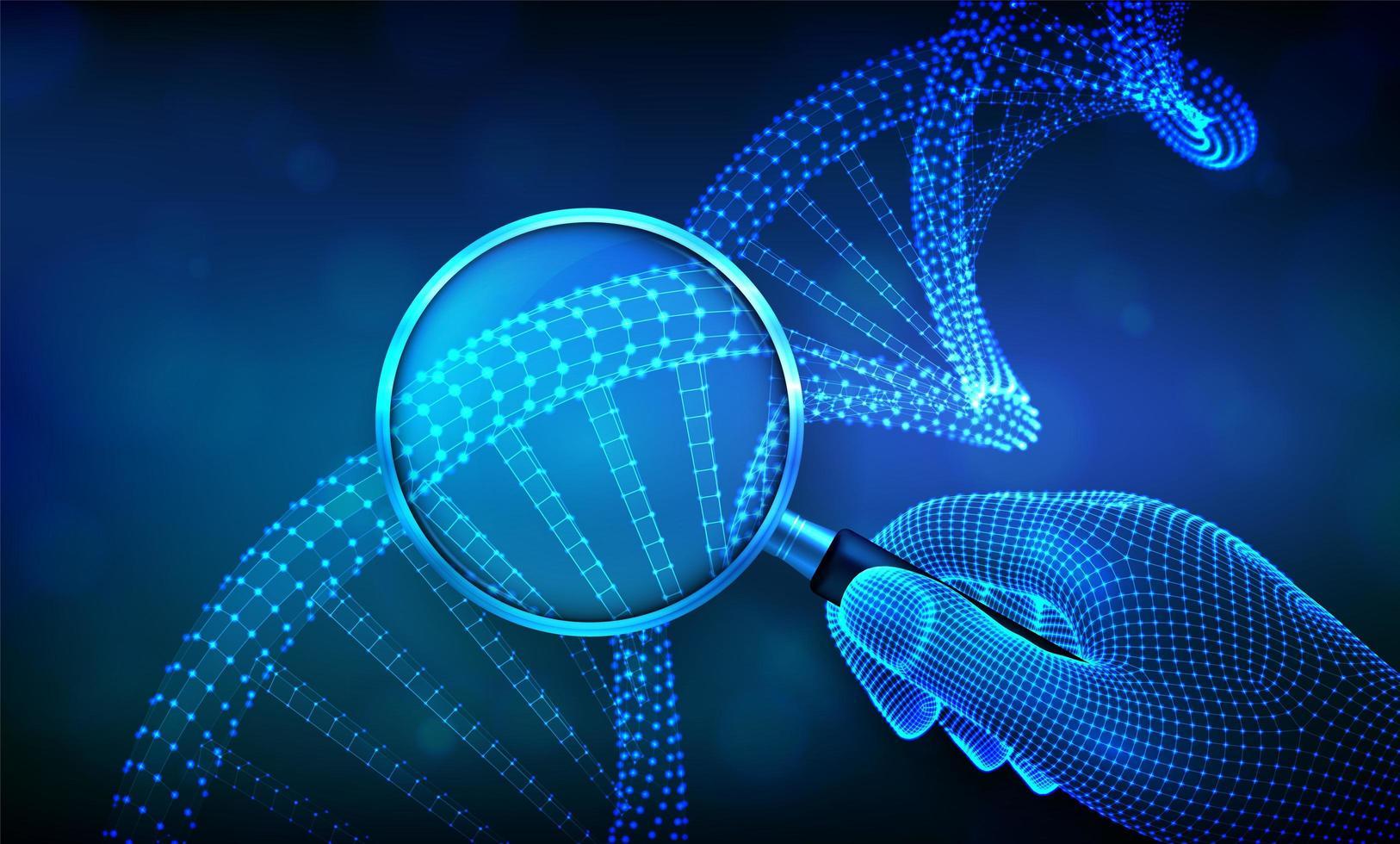 concepto de ingeniería genética banner futurista con adn vector