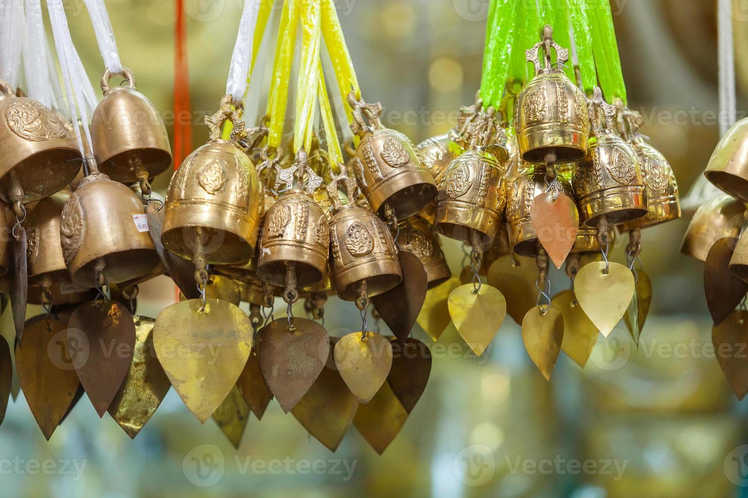 tradition asian bell in Big Buddha temple complex photo