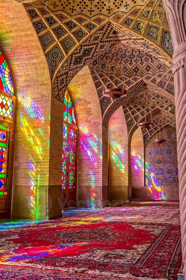 Nasir Al-Mulk Mosque praying room vertical photo