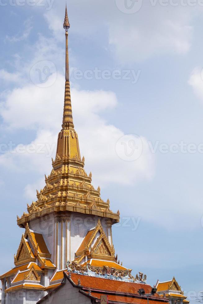 Thai temple roof. photo