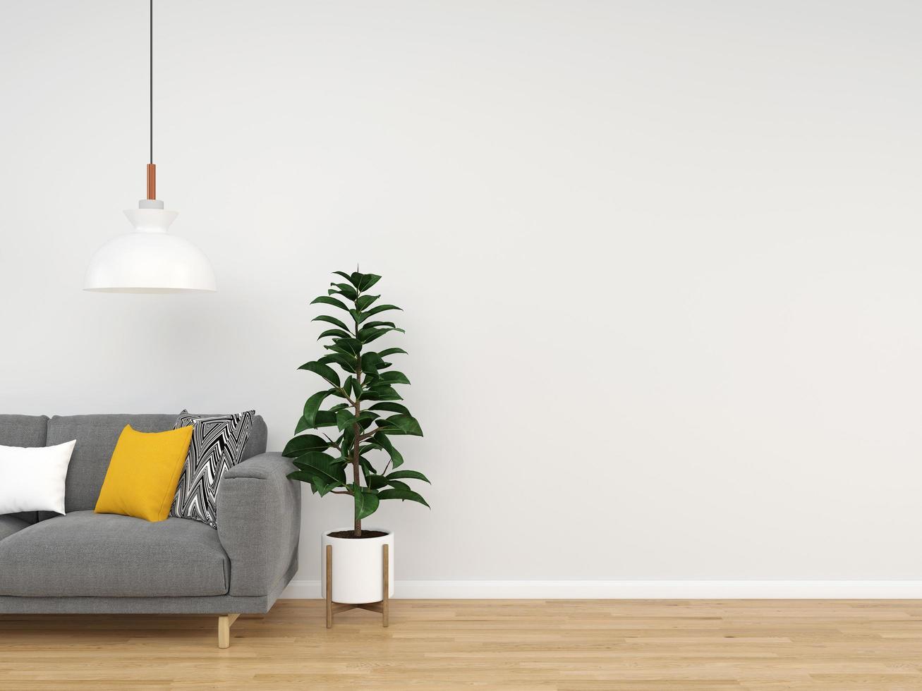 sala de estar 3d renderizado fondo foto