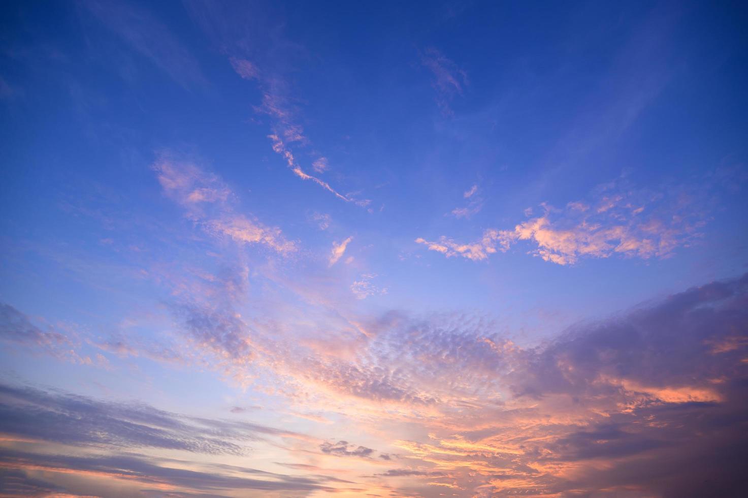 colorido cielo al atardecer foto