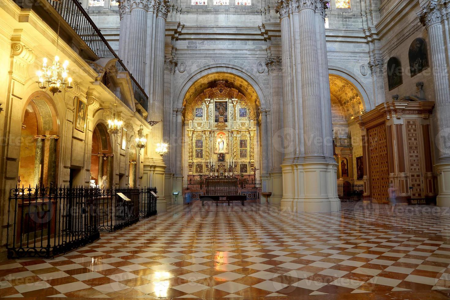 The interior Cathedral of Malaga-- Andalusia, southern Spain. photo