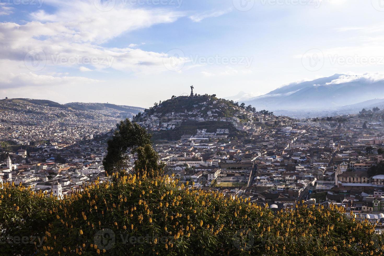 Viewpoint in San Juan, Quito. photo