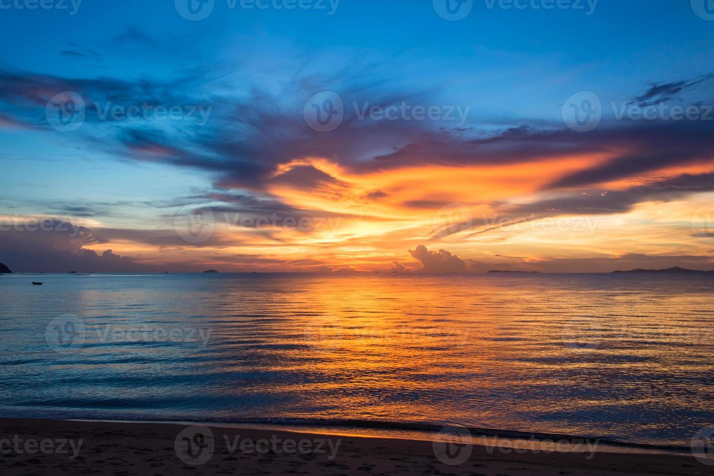 Summer sunset at PATAYA THAILAND photo