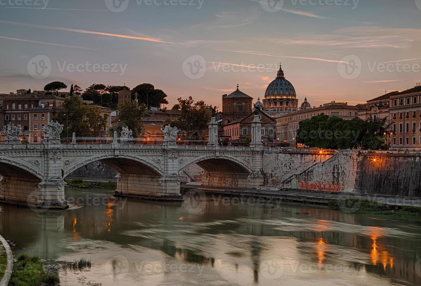 Tiber and cathedral of St. Peter photo