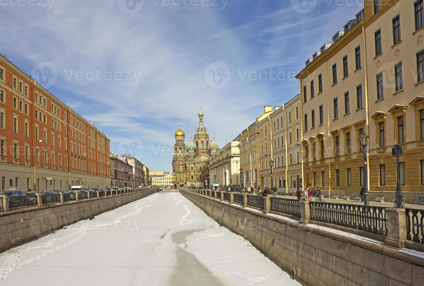 Petersburg cityscape with Church of the Savior on Blood photo