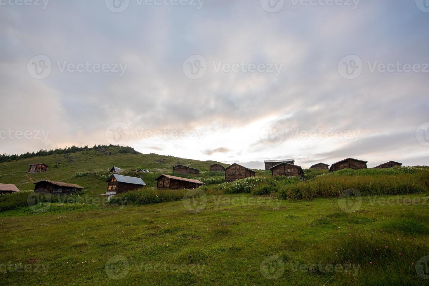 Plateau and cloudscape photo